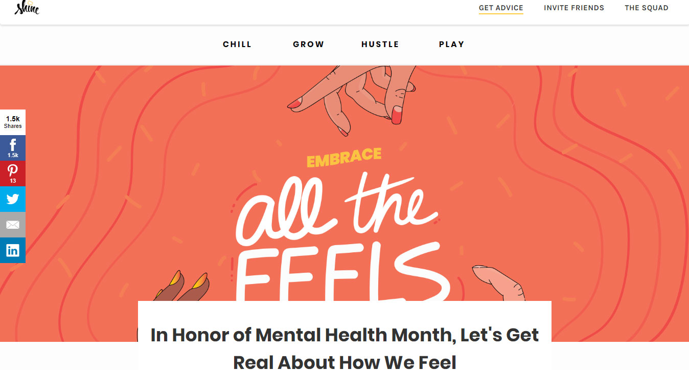 In Honor of Mental Health Month, Let's Get Real About How We Feel